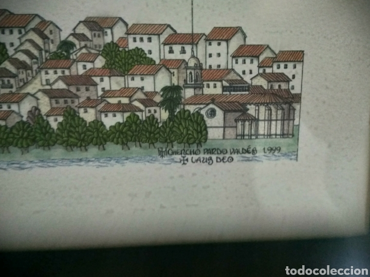 Arte: Litografía ciudad de Tui, Chencho Pardo Valdes - Foto 4 - 186205156
