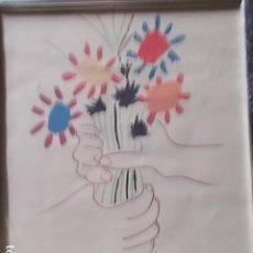 Arte: LITOGRAFIA ENMARCADA DE PICASO, 1958. Lote 186369806