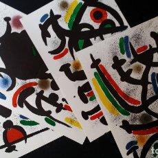 Arte: 4 LITOGRAFÍAS DE MIRO, DEL VOLUMEN I (MIRO LITOGRAFO), 1972. Lote 186407123