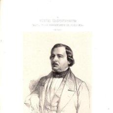 Art: LITOGRAFIA ALFONSO DE ESCALANTE. GALERIA DE LOS REPRESENTANTES DEL PUEBLO. MURCIA. 1854. Lote 187173782