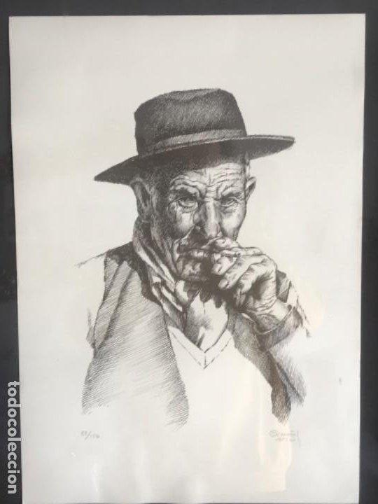 LITOGRAFÍA DE GERMÁN ARACIL FIRMADA Y NUMERADA DE PUÑO Y LETRA 82/150. (Arte - Litografías)