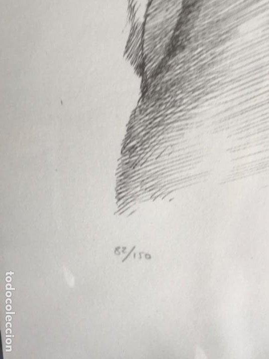 Arte: LITOGRAFÍA DE GERMÁN ARACIL FIRMADA Y NUMERADA DE PUÑO Y LETRA 82/150. - Foto 4 - 187302220