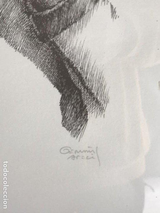 Arte: LITOGRAFÍA DE GERMÁN ARACIL FIRMADA Y NUMERADA DE PUÑO Y LETRA 82/150. - Foto 5 - 187302220