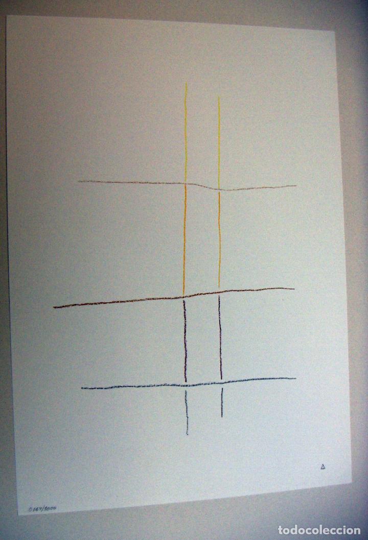 LITOGRAFIA DE ANDREU ALFARO SIN TITULO CON CERTIFICADO DE AUTENTICIDAD (Arte - Litografías)