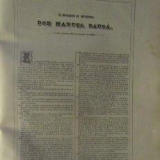Arte: BIOGRAFÍA - BRIGADIER DE INFANTERÍA D.MANUEL BAUSÁ - 1836. ESTADO MAYOR EJERCITO. Lote 187416437