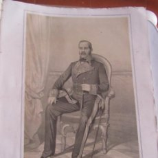 Arte: LITOGRAFÍA - BRIGADIER DE INFANTERÍA D. JOSE DE LLORENS - 18... ESTADO MAYOR EJERCITO. Lote 187439311