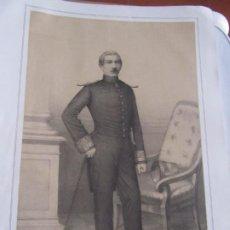 Arte: LITOGRAFÍA - BRIGADIER DE INFANTERÍA D. PEDRO LARRAGA - 18... ESTADO MAYOR EJERCITO. Lote 187439455