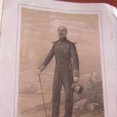 Arte: LITOGRAFÍA - BRIGADIER DE INFANTERÍA D. FELIPE M... - 18... ESTADO MAYOR EJERCITO. Lote 187441813