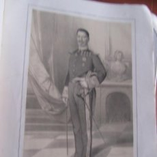 Arte: LITOGRAFÍA - BRIGADIER DE INFANTERÍA MANUEL PEÑA ESPIGA - 18... ESTADO MAYOR EJERCITO. Lote 187443023