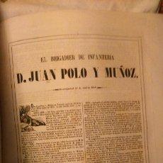 Arte: BIOGRAFÍA - BRIGADIER DE INFANTERÍA D. JUAN POLO Y MUÑOZ - 1848. ESTADO. Lote 187444106