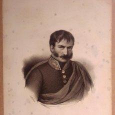 Arte: ZUMALACÁRREGUI. CARLISMO. LITOGRAFÍA SIGLO XIX. RETRATO. ABSOLUTISMO. GUERRA CARLISTA, EUSKADI. Lote 187459050