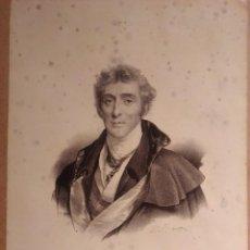 Arte: WELLINGTON. LITOGRAFÍA SIGLO XIX. RETRATO. INGLATERRA. GUERRAS NAPOLEÓNICAS. Lote 187459440