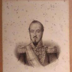 Arte: ESPARTERO. LITOGRAFÍA SIGLO XIX. RETRATO. GUERRAS CARLISTAS. REINADO ISABEL II. Lote 187459940