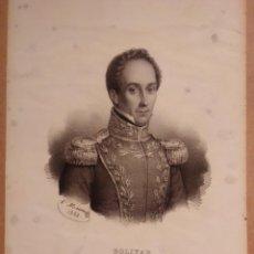 Arte: BOLÍVAR. LITOGRAFÍA SIGLO XIX. RETRATO. HISTORIA DE AMÉRICA. INDEPENDENCIA. Lote 187462341