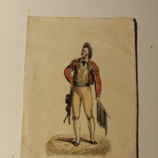 Arte: BULL-FIGTER OF SEVILLE –TORERO DE SEVILLA. R. ACKERMAN LONDON 1825.LITOGRAFIA ILUMINADA. 14X9 CM. Lote 187469137