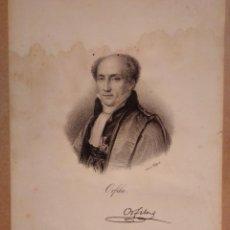 Arte: ORFILA, CIENTÍFICO ESPAÑOL. LITOGRAFÍA SIGLO XIX. RETRATO. MENORCA, MAHÓN. MÉDICO, TOXICOLOGÍA. Lote 187474995