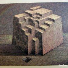 Arte: LITOGRAFIA DE JOSE MARIA SUBIRACHS TITULO ESTRUCTURA CON CERTIFICADO DE AUTENTICIDAD. Lote 187517823