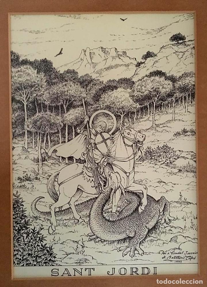 LA CREU DE SANT JORDI DE ANTONI BATLLORI I JOFRÉ NUMERADA Y CERTIFICADA (Arte - Litografías)