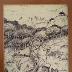 Arte: LA CREU DE SANT JORDI DE ANTONI BATLLORI I JOFRÉ NUMERADA Y CERTIFICADA. Lote 187588267