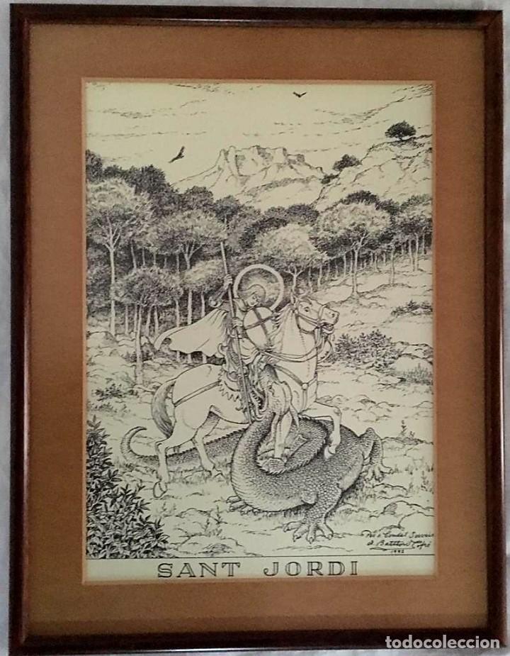 Arte: La Creu de Sant Jordi de Antoni Batllori i Jofré numerada y certificada - Foto 6 - 187588267
