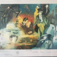 Arte: LITOGRAFÍA DE CINE FIRMADA POR VIVES FIERRO, EMÍLIA CASTAÑEDA, ROLLAN, FUENTETAJA ETC 266/300. . Lote 187610861