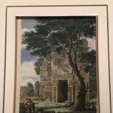 Arte: LITOGRAFÍA COLOREADA DE MERIDA VISTA EXTERIOR DE LA CISTERNA. FINALES DEL S.XIX. . Lote 187614912