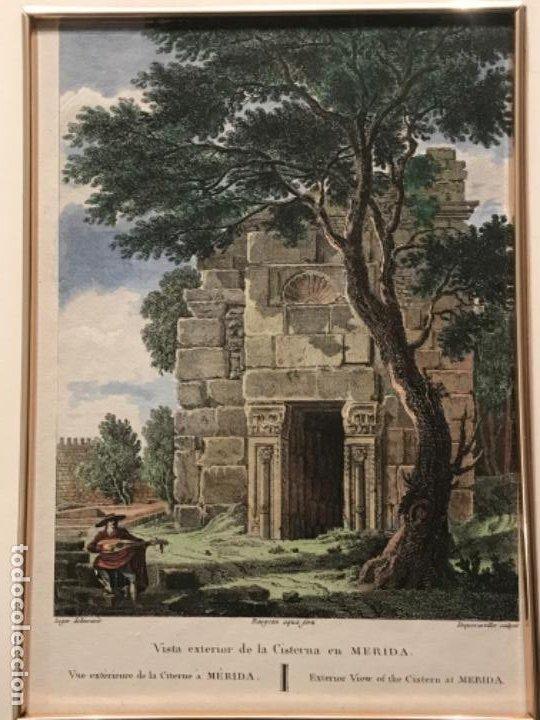 Arte: LITOGRAFÍA COLOREADA DE MERIDA VISTA EXTERIOR DE LA CISTERNA. FINALES DEL S.XIX. - Foto 2 - 187614912