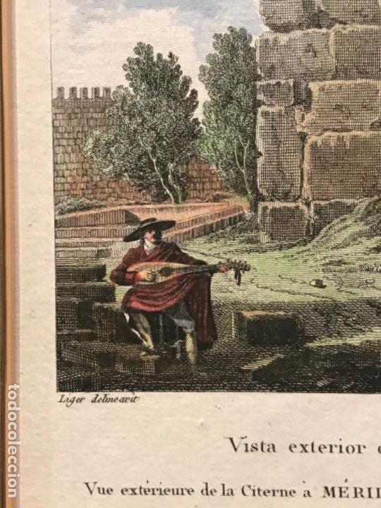 Arte: LITOGRAFÍA COLOREADA DE MERIDA VISTA EXTERIOR DE LA CISTERNA. FINALES DEL S.XIX. - Foto 3 - 187614912