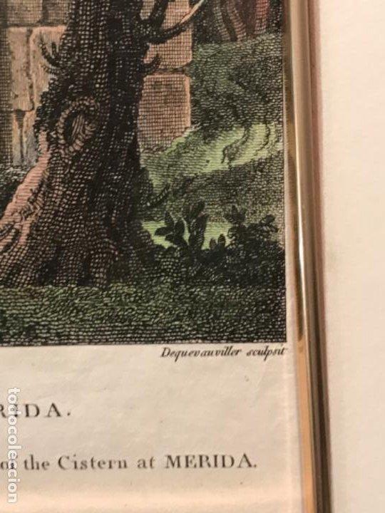 Arte: LITOGRAFÍA COLOREADA DE MERIDA VISTA EXTERIOR DE LA CISTERNA. FINALES DEL S.XIX. - Foto 5 - 187614912