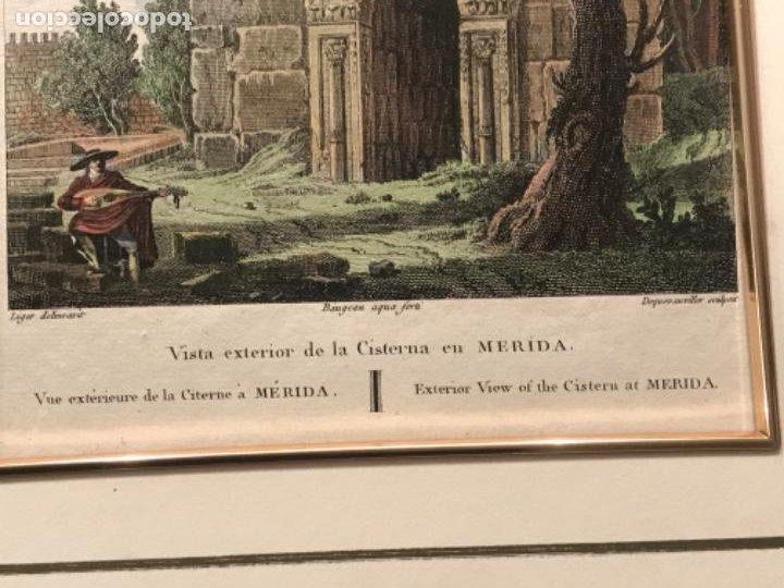 Arte: LITOGRAFÍA COLOREADA DE MERIDA VISTA EXTERIOR DE LA CISTERNA. FINALES DEL S.XIX. - Foto 6 - 187614912