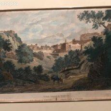 Arte: LITOGRAFÍA COLOREADA DE TORTOSA TARRAGONA- VISTA GENERAL. FINAL DEL S.XIX.. Lote 187616173