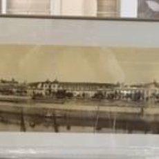 Arte: CUADRO REDRODUCCION DE FOTOGRAFIA PANORAMICA DE LAURENT DE SEVILLA 1870. Lote 188553477