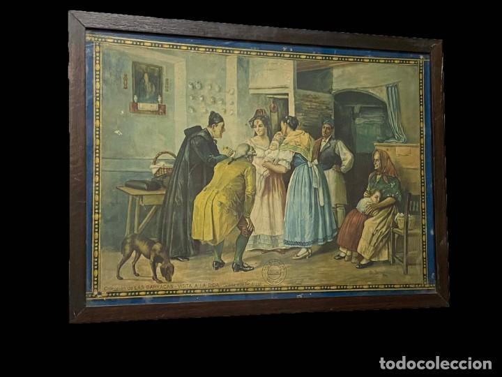 VALENCIA VISITA A LA DIDA, DE B. FERRANDIZ , CON SELLO DE ALGODONES LA BARRACA, VDA DE VILLENA, (Arte - Litografías)