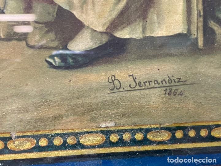 Arte: Valencia visita a la dida, de B. Ferrandiz , con sello de algodones la barraca, vda de Villena, - Foto 2 - 188732343