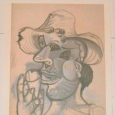 Arte: PICASSO / HOMME AU CORNET DE GLACE / 1938 - LITOGRAFÍA 70/250 - SPADEM PARÍS. Lote 189304407