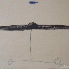 Arte: JOSEP MARIA RIERA I ARAGÓ. LITOGRAFÍA FIRMADA A PLANCHA, A MANO, DEDICADA Y PEQUEÑO DIBUJO DEL AUTOR. Lote 179070772