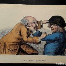 Arte: CARICATURAS - 1810 - DIBUJANTE TIM BOBBIN - JOHN COLLIER . Lote 189510700