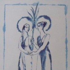 Arte: LITOGRAFIA LES SANTES. MATARÓ. 2010. MANUEL CUSACHS. 54X38 CM. FIRMADA EN PLANCHA. NUMERADA 1/100.. Lote 189564356