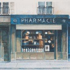 Arte: JOSEP Mª VAYREDA CANADELL (OLOT, 1932-2001) - CALLE DE PARÍS.PRUEBA DE AUTOR.FIRMADA.. Lote 189217632