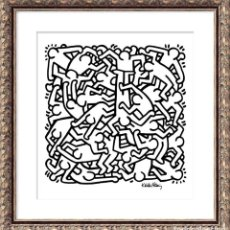 Arte: KEITH HARING. PARTY OF LIVE 1986. 37X30CM. Lote 208865146