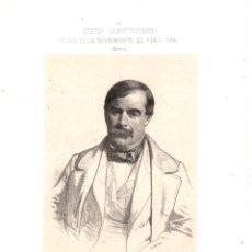 Art: LITOGRAFIA JULIAN ROSSIQUE. GALERIA DE LOS REPRESENTANTES DEL PUEBLO. MURCIA. 1854. Lote 189749433