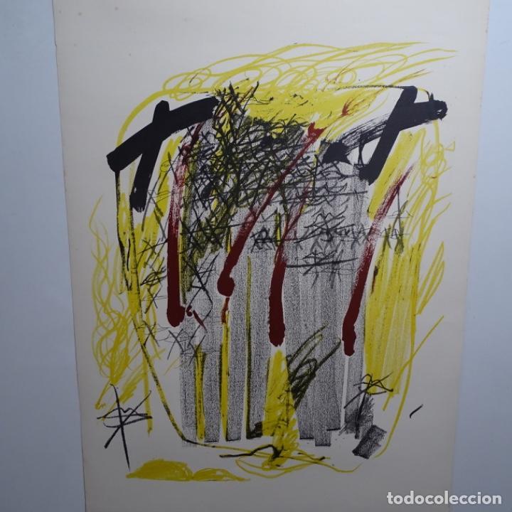 "LITOGRAFIA DE ANTONI TAPIES.""QUATRE BARRES"".EDICIÓN DE 100 EJEMPLARES.SALA GASPAR.1971.P A (Arte - Litografías)"