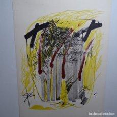 """Arte: LITOGRAFIA DE ANTONI TAPIES.""""QUATRE BARRES"""".EDICIÓN DE 100 EJEMPLARES.SALA GASPAR.1971.P A. Lote 190178483"""