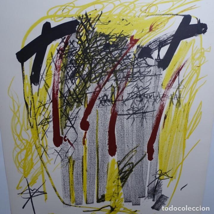 """Arte: Litografia de antoni tapies.""""Quatre barres"""".Edición de 100 ejemplares.sala gaspar.1971.p a - Foto 2 - 190178483"""