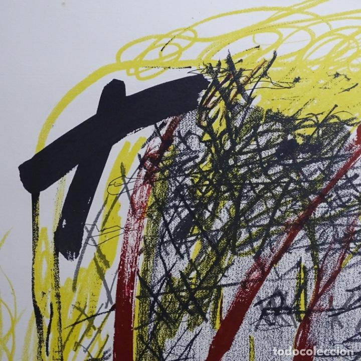 """Arte: Litografia de antoni tapies.""""Quatre barres"""".Edición de 100 ejemplares.sala gaspar.1971.p a - Foto 3 - 190178483"""