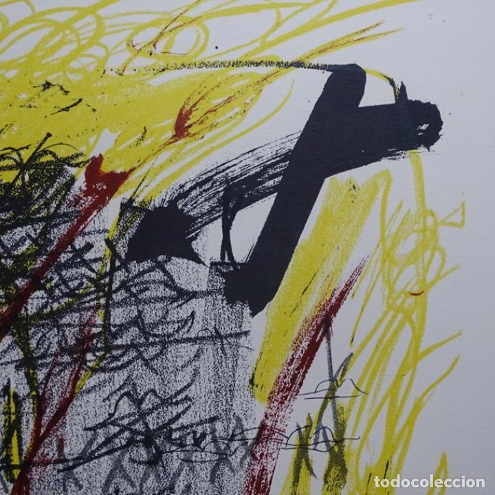 """Arte: Litografia de antoni tapies.""""Quatre barres"""".Edición de 100 ejemplares.sala gaspar.1971.p a - Foto 4 - 190178483"""