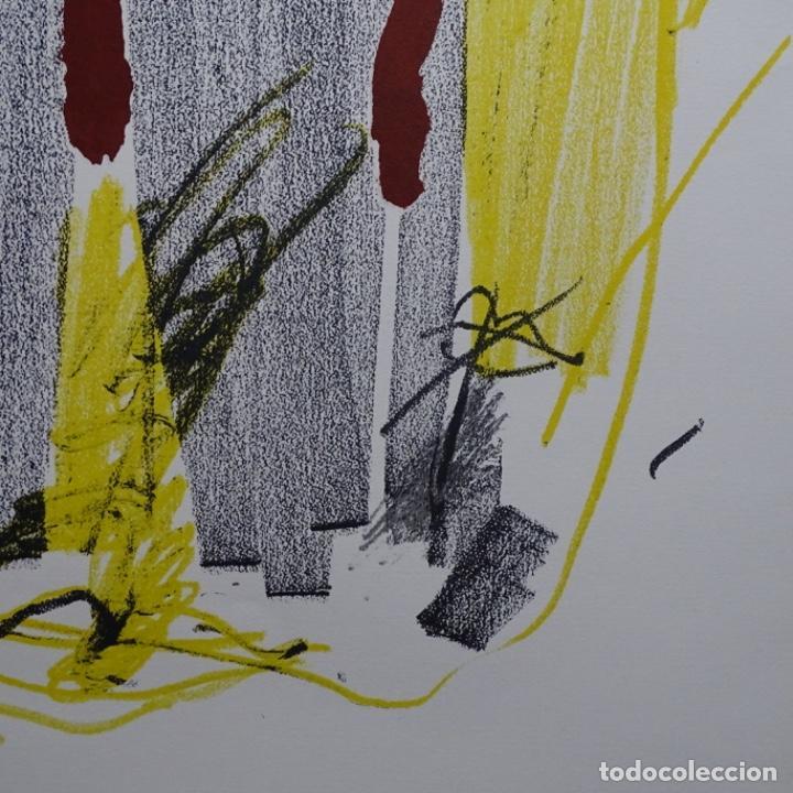 """Arte: Litografia de antoni tapies.""""Quatre barres"""".Edición de 100 ejemplares.sala gaspar.1971.p a - Foto 5 - 190178483"""