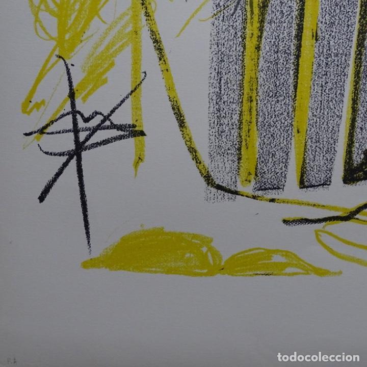 """Arte: Litografia de antoni tapies.""""Quatre barres"""".Edición de 100 ejemplares.sala gaspar.1971.p a - Foto 6 - 190178483"""