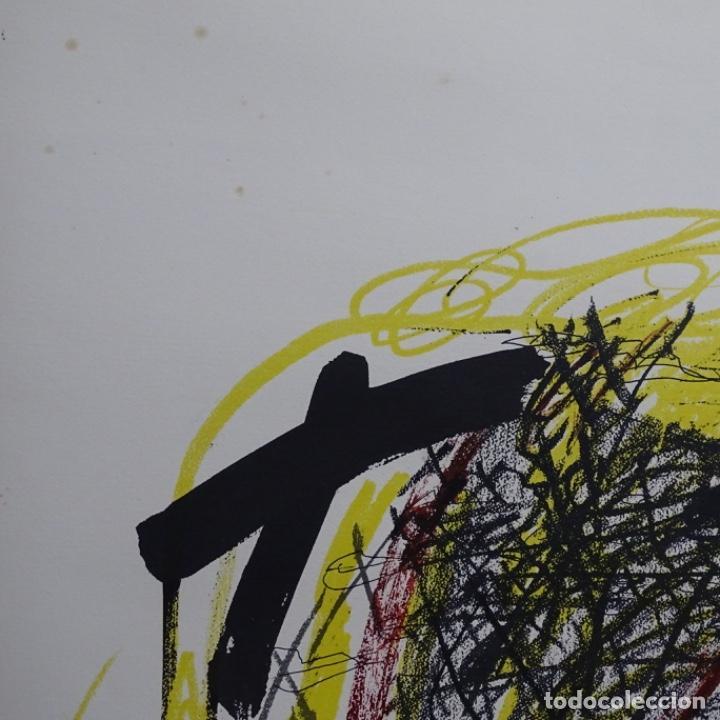 """Arte: Litografia de antoni tapies.""""Quatre barres"""".Edición de 100 ejemplares.sala gaspar.1971.p a - Foto 7 - 190178483"""