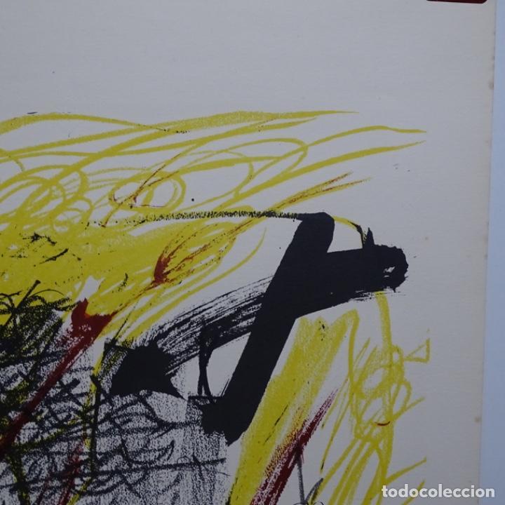 """Arte: Litografia de antoni tapies.""""Quatre barres"""".Edición de 100 ejemplares.sala gaspar.1971.p a - Foto 8 - 190178483"""